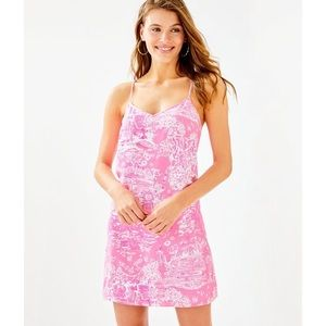 NWT Lilly Pulitzer Pink Sorbet Dusk Strappy Silk